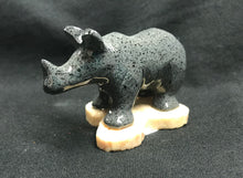Load image into Gallery viewer, Marble Hand Carved Rhino Statue