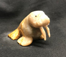 Load image into Gallery viewer, Marble Hand Carved Walrus Figure