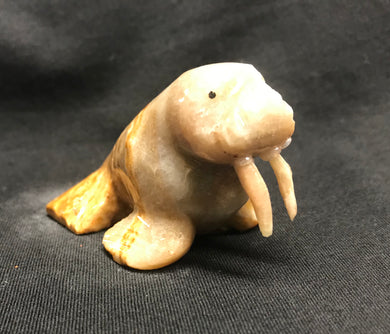Marble Hand Carved Walrus Figure