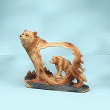 "Load image into Gallery viewer, 4.5"" Bear Woodlike Carving"