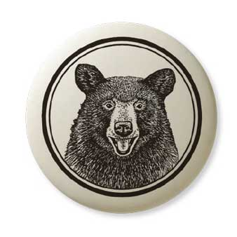 Porcelain Black Bear Pendant