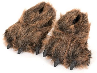 Fuzzy Grizzly Feet Slippers