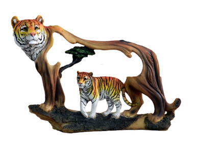 Painted 9Faux Wood Statue