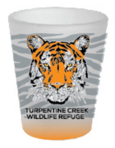 Frosted Tiger Shot Glass
