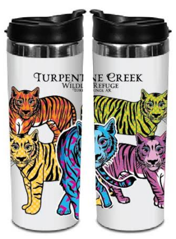Colorful Tiger Travel Mug