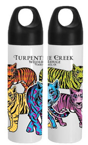Colorful tiger Water Bottle