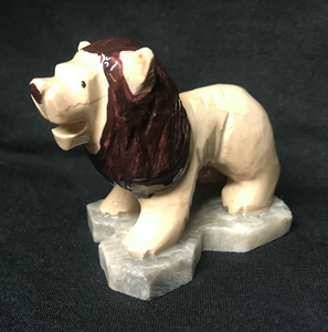 Marble Hand Carved Lion Figure