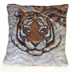 Sequin Tiger Pillow