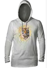 Load image into Gallery viewer, Modern Safari Tiger Long Sleeve Hooded T-Shirt