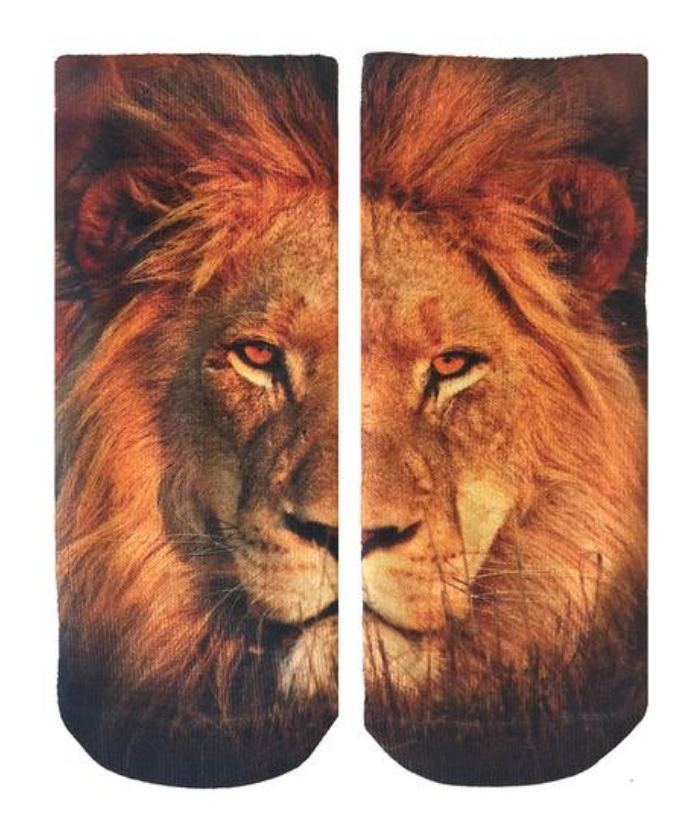 Sublimation Lion Ankle Socks