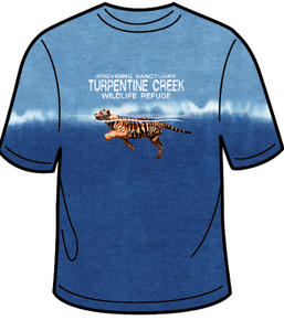 Tiger Swimming Adult T-shirt