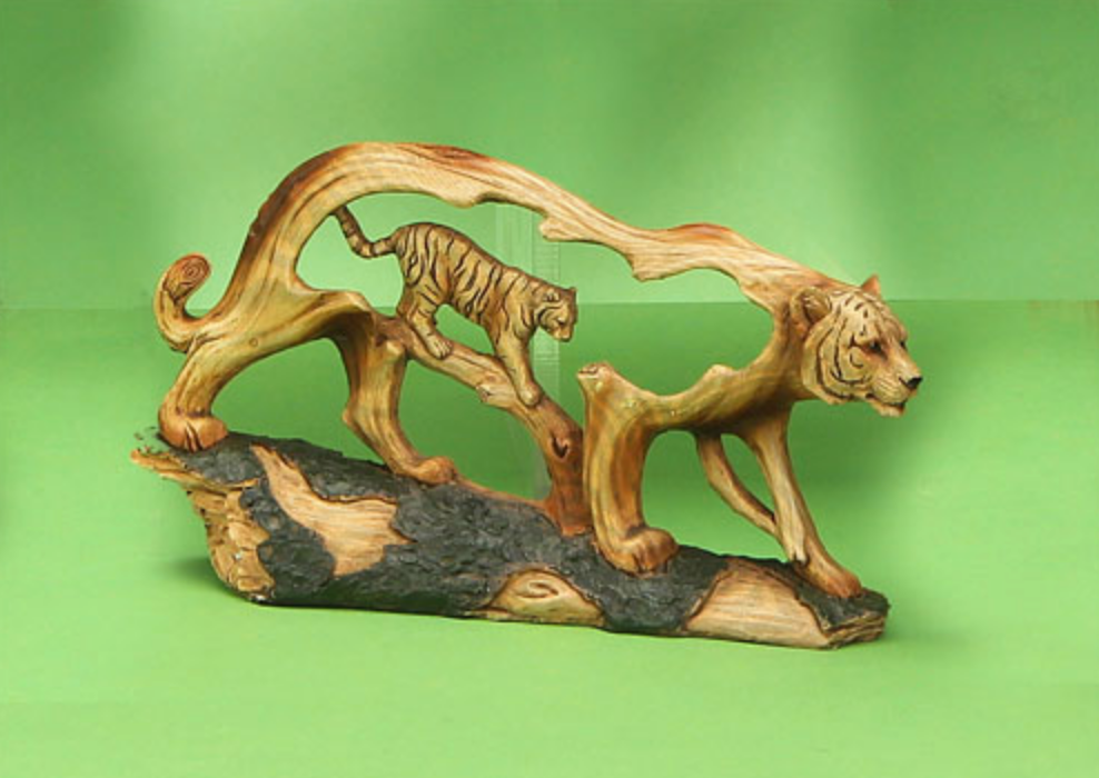 Woodlike Tiger Carving