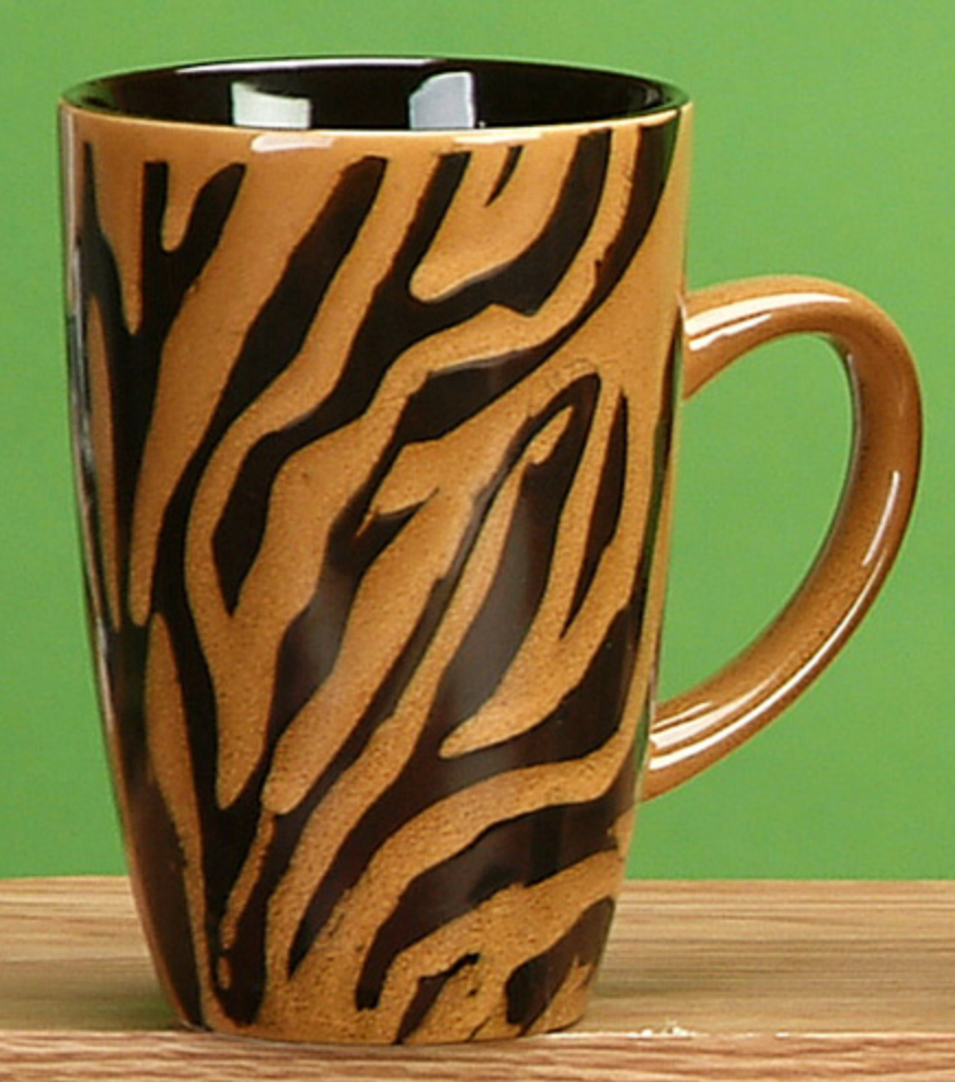 Tiger stripe ceramic mug
