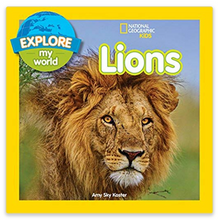 "Load image into Gallery viewer, ""Explore my World"" Lions Book"