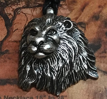 Load image into Gallery viewer, Pewter Lion Necklace