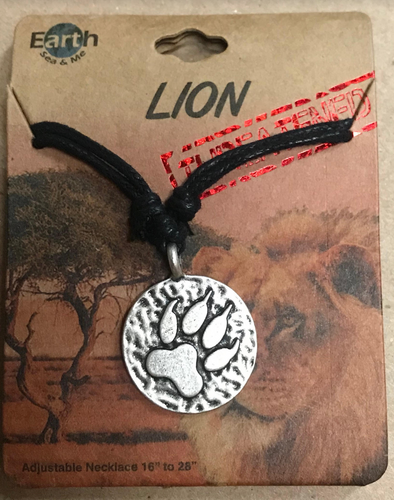 Pewter Lion Paw Necklace