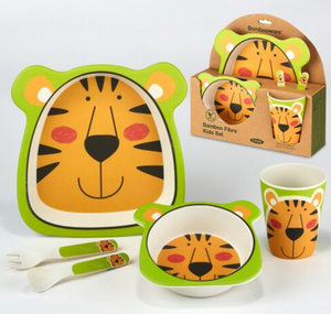 Bamboo Tiger Kids Dish Set