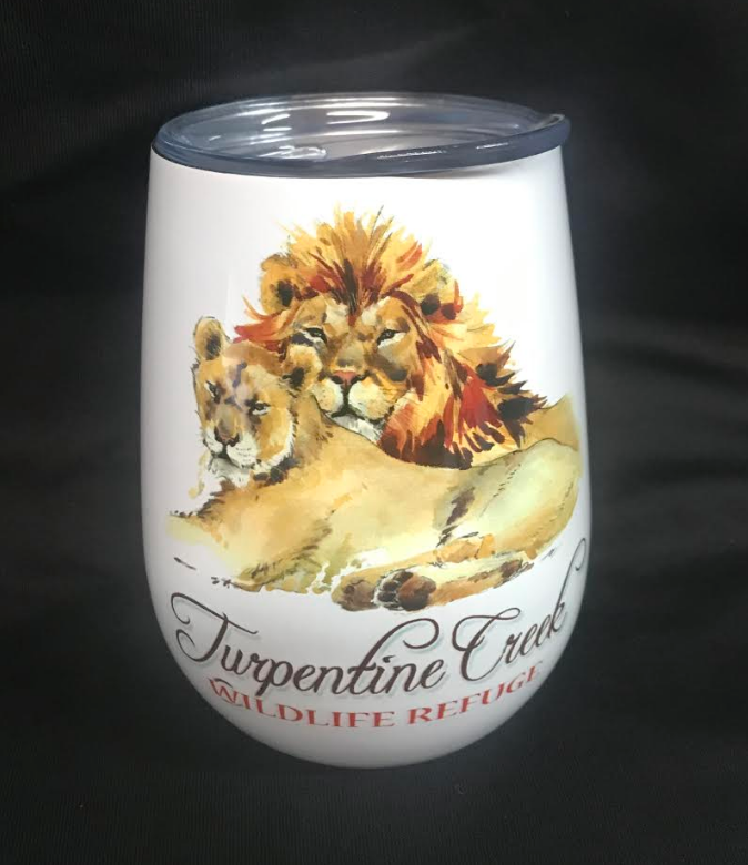 Lion Duo Stemless Wine Glass