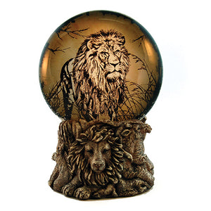 Lion Light Up Water Globe