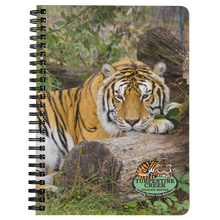 Load image into Gallery viewer, Poncho Tiger Spiral Notebook
