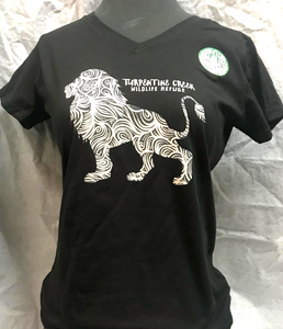 Lion Swirl Ladies V-neck T-shirt