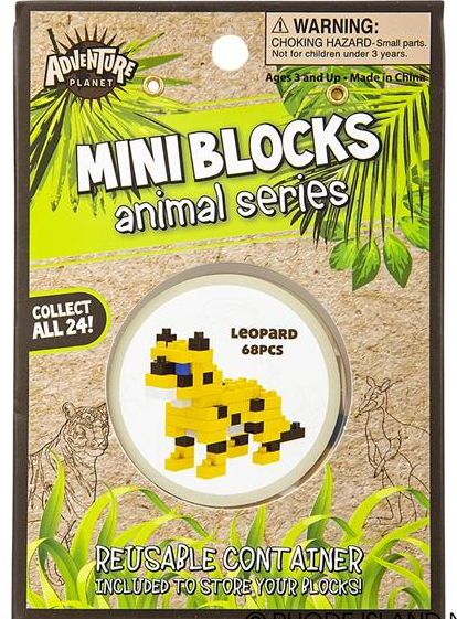 leopard mini block set