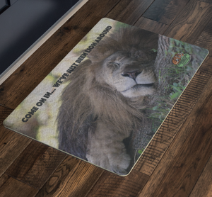 Willy, the Lion Indoor Doormat