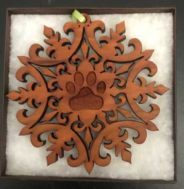 Wooden Snowflake Hanging Decoration