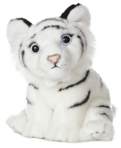 "10"" White Tiger Cub Plush"