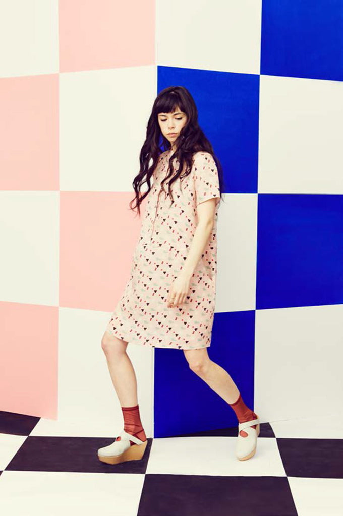 Pink Five Dot Oversize Tee Dress