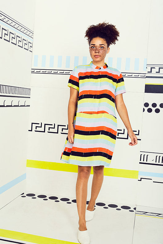 Bricks Oversize Tee Dress