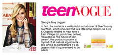 Georgia Jagger - Teen Vogue - Bee Yummy Skinfood