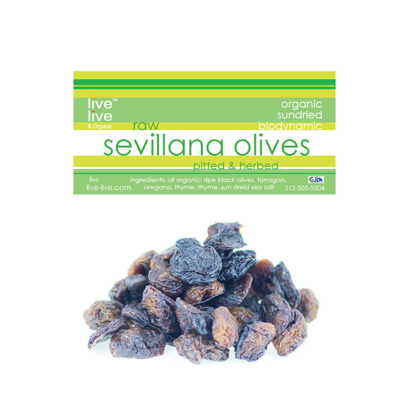 Sevillana Olives with Herbs, Pitted, 8oz bag