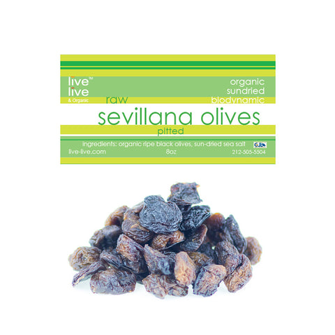 Sevillana Olives with Sea Salt, Pitted, 8oz bag