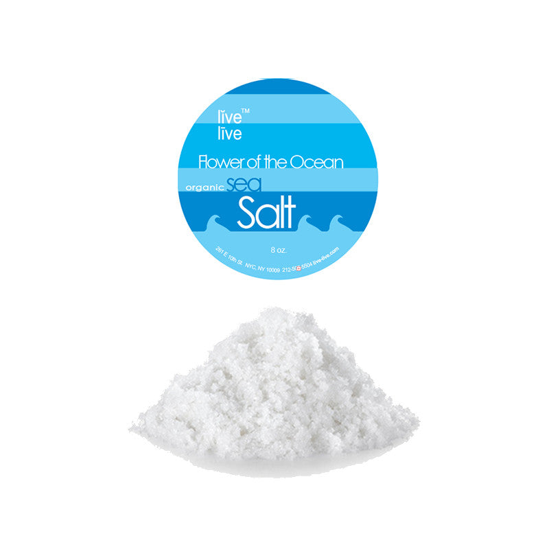 Flower Of The Ocean Salt, 8oz, Live Live & Organic