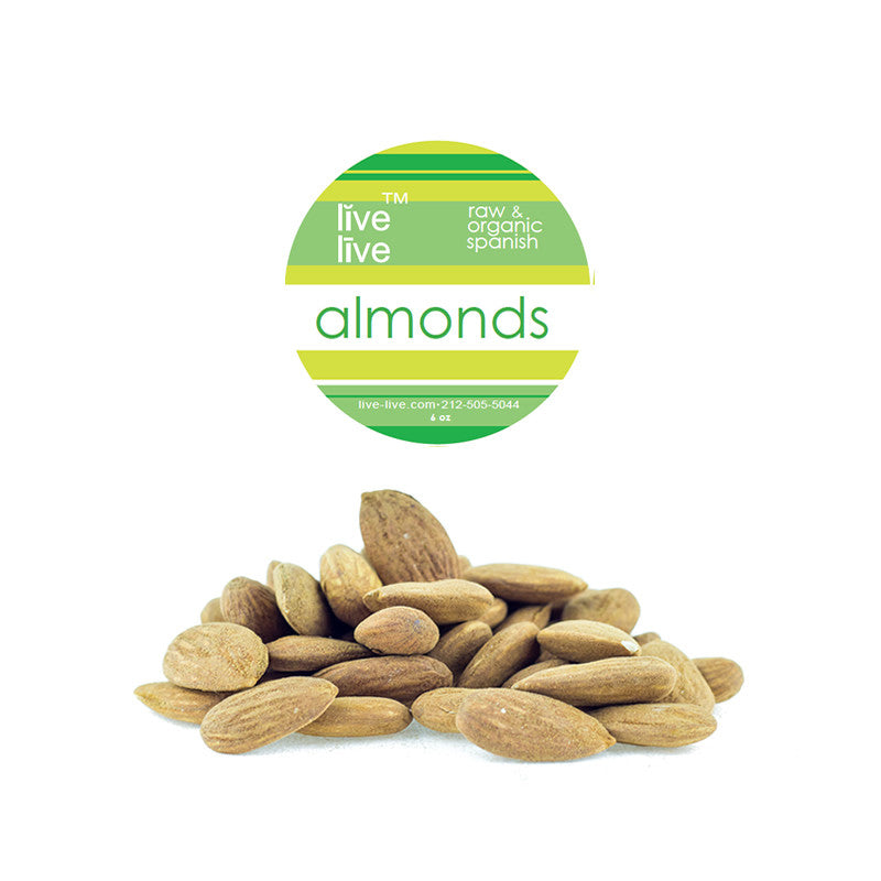Almonds, Spanish, Live Live & Organic, 6oz