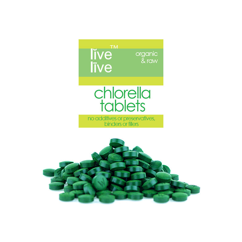 Organic Chlorella Tablets, Cracked Cell Wall