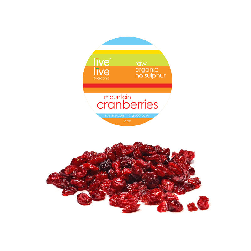Mountain Cranberries, Wild, 3oz, Live Live & Organic