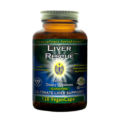 Liver Rescue, 120 Veg Caps, HealthForce SuperFoods