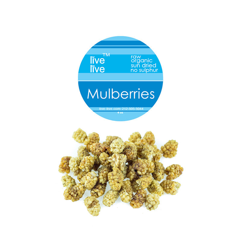 White Mulberries, Organic, 4oz, Live Live & Organic