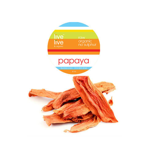 Dried Organic Papaya, 4oz, Live Live & Organic