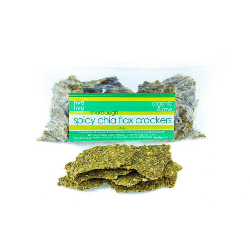 Spicy Chia Flax Crackers, 2oz