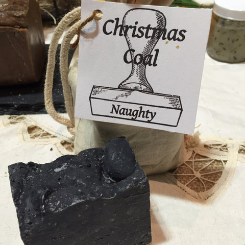 Christmas: Coal Soap