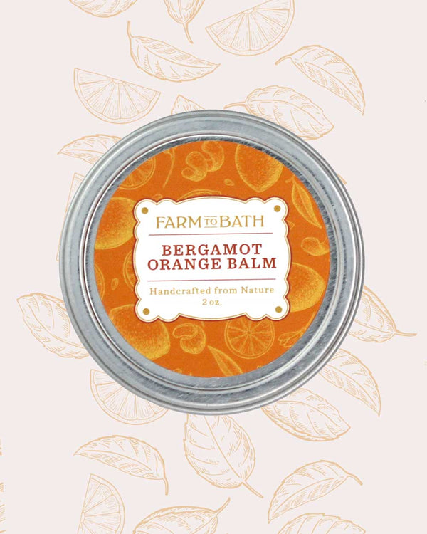 Bergamot Orange Hand Balm with infused Orange Oil