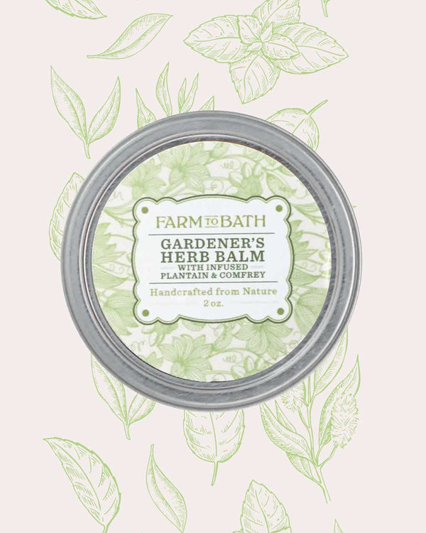 Gardeners Herb Body Balm with infused Plantain and Comfrey