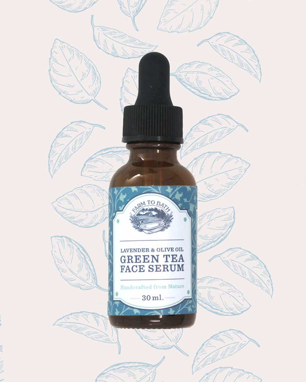 Green Tea Face Serum with Lavender and Olive Oil