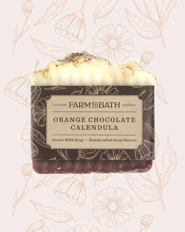 Orange Chocolate Calendula Soap