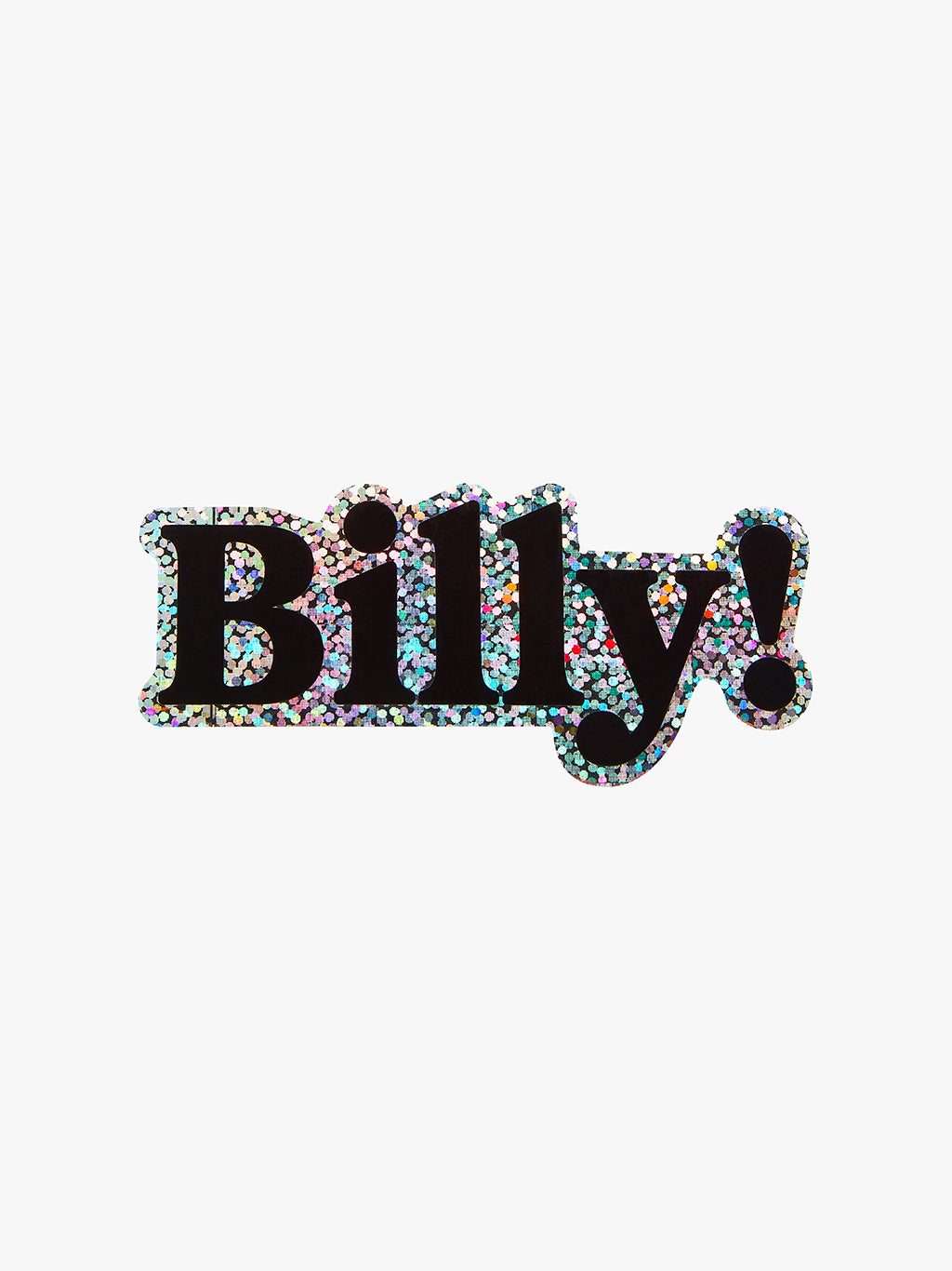 Glitter Stickers | Billy!