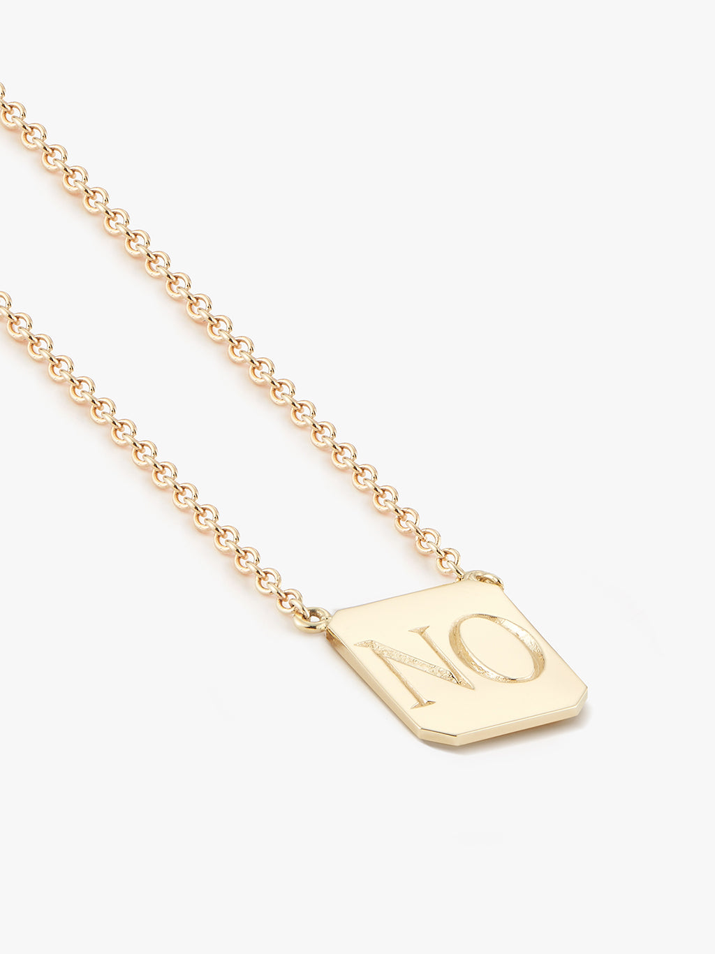 SI•NO Edition Gold Tag Necklace