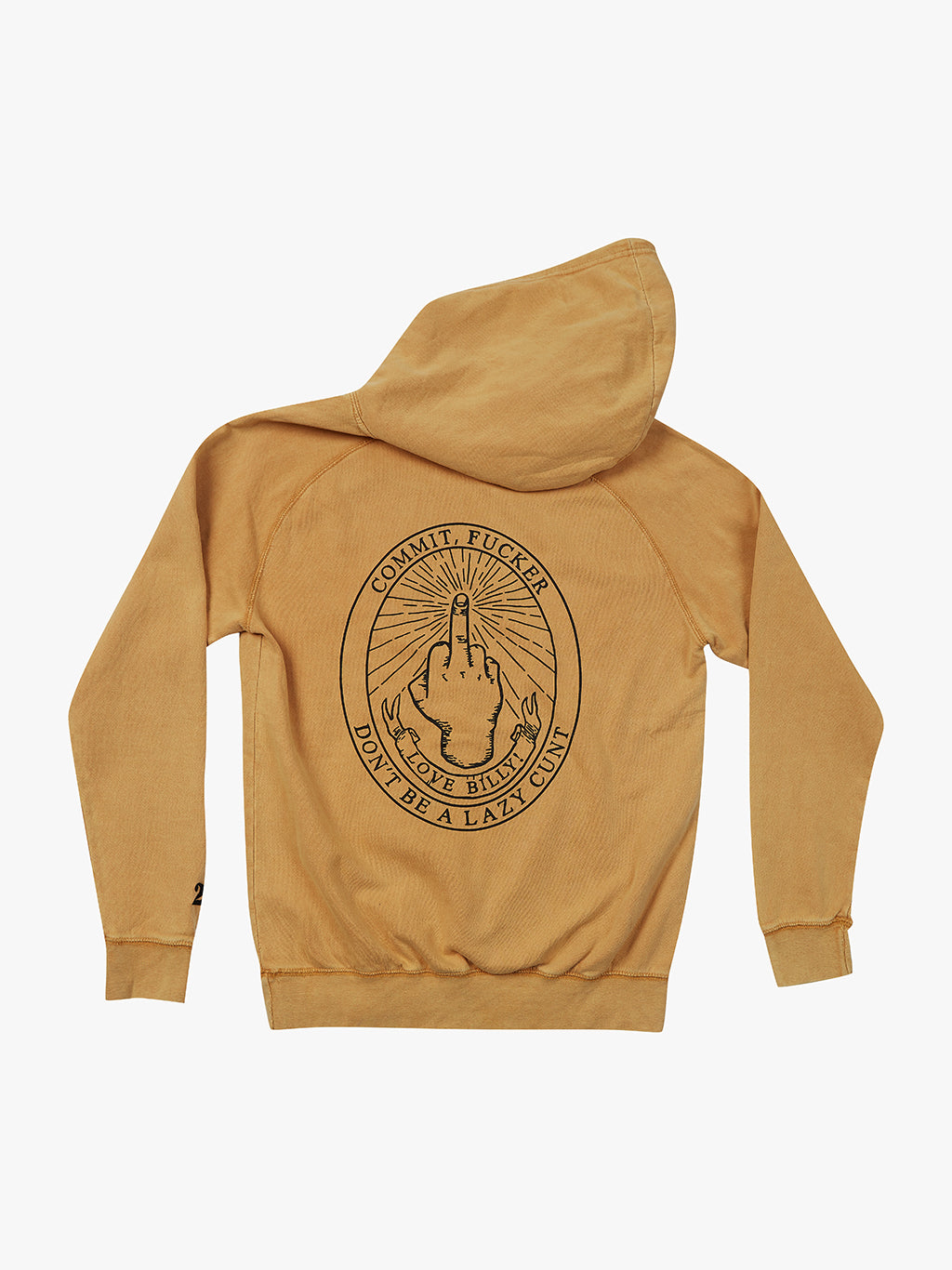 Mustard Middle Fingers Up Hoodie